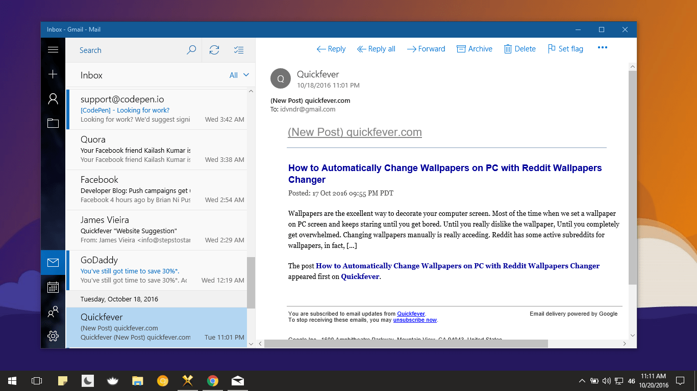 add gmail to windows 10 mail steps