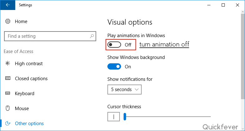 make windows 10 super fast by disabling visual animations